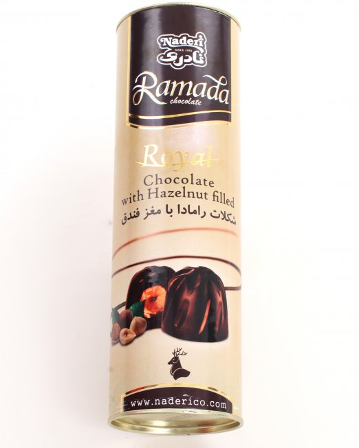 Naderi Ramada Royal Chocolate with Hazelnut filled Gold Top